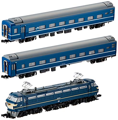 J.R. EF66 Blue Train Set (Basic 3-Car Set) (Model Train) (japan import)
