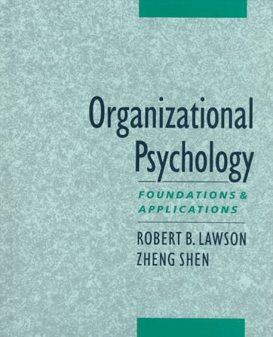Download Organizational Psychology: Foundations and Applications 0195110692