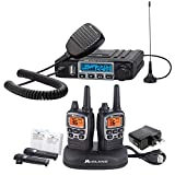 Midland MicroMobile Farm Radio Bundle - MicroMobile 15 Watt GMRS Two-Way Radio with External Magnetic Mount Antenna, and X-TALKER Two-Way Radio (Pair Pack)