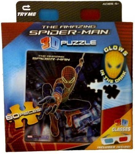 mejor reputación Amazing Spiderman 3d Puzzle, Puzzle, Puzzle, Spiderman swinging between buildings, Glows in the Dark, 60 Pieces by Toy Island  100% precio garantizado