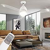 Deckenventilator mit Beleuchtung und Fernbedienung im Set inklusive 14 Watt LED Leuchtmittel