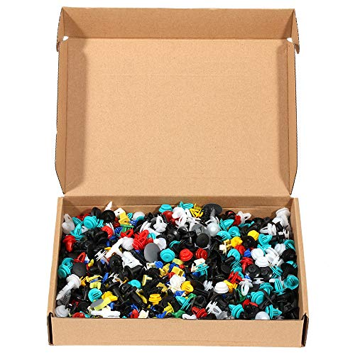 OCPTY 1000 Pcs Nylon Bumper Fasteners Fender Rivet Clips Push Type Car Retainer Kit