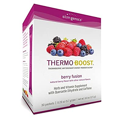SlimGenics Thermo-Boost ® | Thermogenic Antioxidant Energy Boosting Powder Drink Mix - Anti-Aging Properties, Increases Metabolism & Weight Loss, Fights Fatigue & Inflammation