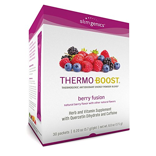 SlimGenics Thermo-Boost ® | Thermogenic Thermo Burn Powder Energy Drink Mix – Antioxidant, Anti-Aging Properties - Metabolism Booster for Weight Loss - (Berry Fusion Flavor)