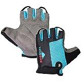 Cycling Gloves (Blue - Half Finger, Large)