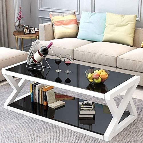 YYANG Haushalt Moderne Multifunktionale Gehärtete Glas Quadratische Tischplatte Couchtisch Ende Teetisch Wohnzimmer