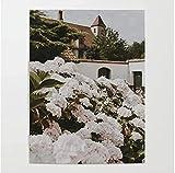 Motty Decor Lienzo impreso Patio de flores blancas de Gante Abstracta para el Hogar Sala de Estar Dormitorio Decoración 30x40cm