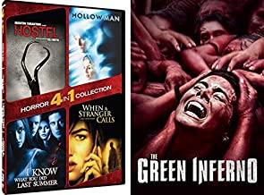 Super Scary Horror 5 Pack- The Green Inferno & Hostel/ Hollow Man/ I Know What You Did Last Summer/ When A Stranger Calls (5 Feature Film Pack)