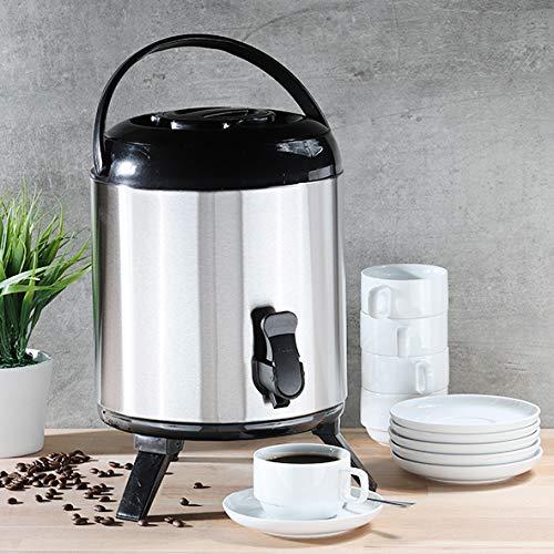 Smartweb XL große Thermoskanne 8 Liter Thermobehälter für Kaffee Glühwein Warmwasser Spender mit Zapfhahn Isolierkanne Airpot