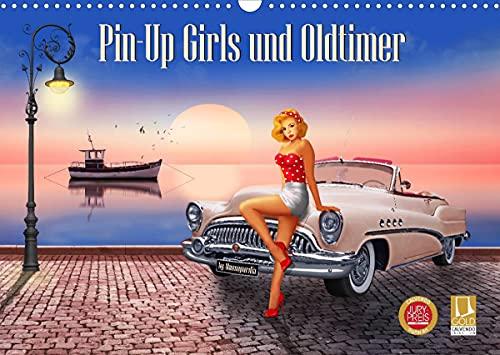 Pin-Up Girls und Oldtimer by Mausopardia (Wandkalender 2022 DIN A3 quer)
