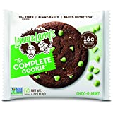 Lenny & Larry's The Complete Cookie, Choc-O-Mint, 4 Ounce Cookies - 12 Count, Soft Baked,...