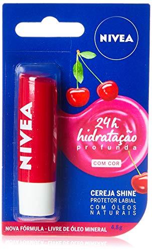 Protetor Labial Nivea Cereja Shine 4, 8G, Nivea, Cereja
