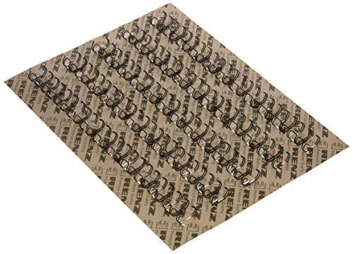 Renz One Pitch Drahtkamm-Bindeelemente in 2:1 Teilung, 23 Schlaufen, Durchmesser 14.3 mm, 9/16 Zoll, schwarz