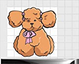 Fliesenaufkleber Fliesentattoos für Bad & Küche - Küchenfliesen - 70x70 cm - Fließen 15x20 cm - ME188 - Babypuppe