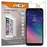 REY 3X Protector de Pantalla para Samsung Galaxy A6 Plus 2018 / Samsung Galaxy A9 Star Lite/Galaxy J8 2018, Cristal Vidrio Templado Premium