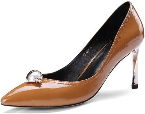 Femmes à Talons Hauts En Cuir Verni Escarpins Pump Pump Stiletto Talon Travail Bureau Party Robe De Mariée Chaussures  mode classique