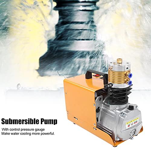 Bediffer Bomba de compresor de aire, varias funciones, protección contra explosiones, compresor de aire axial, bomba de aire de alta presión para estaciones hinchables (220 V UE, rosa)