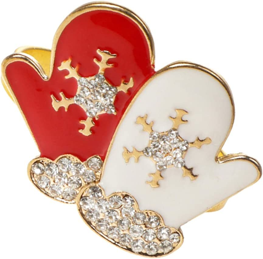 Toyvian Christmas Alloy Napkin Safety and trust Snowflake Mail order Xmas Ring Buckle