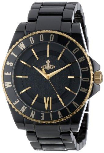 Vivienne Westwood ヴィヴィアンウエストウッド アナログ 腕時計 メンズ オーブ ブラック×ゴールド VV048GDBK [並行輸入品]