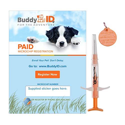 Buddy ID Pet Microchip Plus Lifetime Registration
