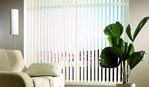 Lamellenvorhang | GARDINIA | 127mm | BxH 300 x 260 cm | Struktur weiss