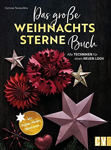 Sterne basteln: Das große Weihnachtssterne-Buch. Alle Techniken für einen neuen Look. Vom klassischen Fröbelstern über filigrane Stroh- und Foliensterne bis hin zu 3D- und Holzsternen.