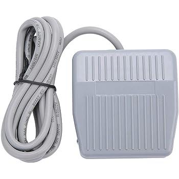 SODIAL(R) AC 250V 10A SPDT NO NC Antideslizante plastico de momentanea de alimentacion Interruptor de pedal Negro: Amazon.es: Electrónica
