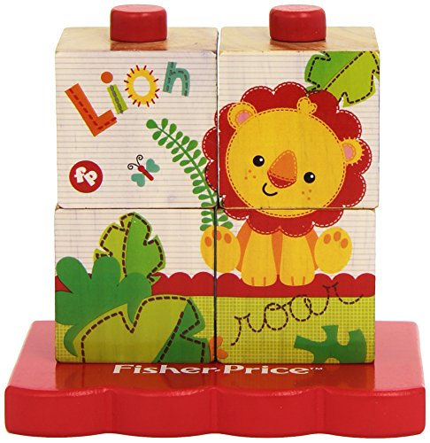 AdGlobal by Fisher Price FP-2001 - Stacking Block Puzzel, 4 stuks