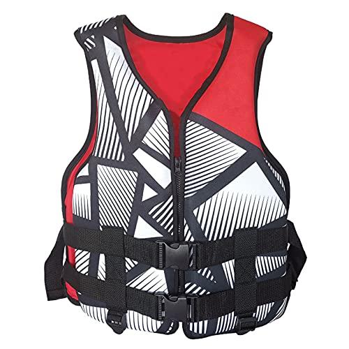 Shhyy Jackets De Vida Adultos PFD Dispositivo Flotación Personal Ayuda De Flotación Chaleco Kayaking Paleta Camisa Salvavidas Nadar Flotador Chaleco Pesca Surfing Buceo Agua Deporte,Rojo