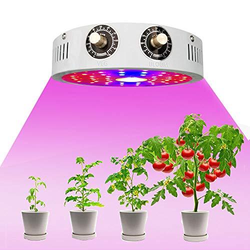 LED Pflanzenlampe, UV & IR Lampe 1000W LED Grow Lampe dimmbar Pflanzenlicht Vollesspektrum Pflanzen Wachstumslampe mit Veg & Bloom Schalter Led Grow Light für Hydroponic Sämling Gemüse Blume (Weiß)