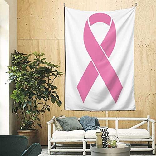 N\A Buen Tapiz Conciencia sobre el cáncer de Mama Cinta Rosada Diseño Plano Arte de la Pared Colgante Arte de la Pared para el apartamento Dormitorio Telón de Fondo Decoración del hogar