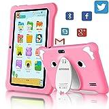 Tablet para Niños Android 9.0 (Certificación Google GMS) 3GB RAM+32GB ROM/128GB 7.1 Pulgadas HD 5.0MP Cámara Quad Core Tablet Infantil de Kid-Proof Funda Tablet Niños Educativo (Rosado)