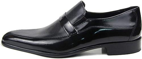 MALPYQ zapatos de Vestir, zapatos de Hombre de Piel Transpirable Huecos y Puntiagudos.