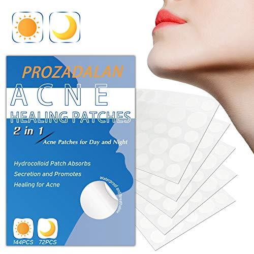 Patch Per l'acne, Idrocolloidi Assorbenti Cerotti per Acne, Impermeabile e Traspirante Cerotti Per Brufoli Assorbimento Delle Secrezioni Uso Diurno e Notturno 2 in 1 Patch Per l'acne