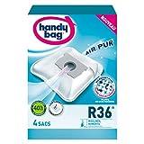 Handy Bag - R36 - 4 Sacs Aspirateurs, pour Aspirateurs Moulinex et Rowenta, Fermeture Hermétique, Filtre...