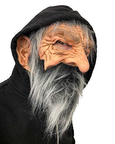 Zagone Studios Bernie, Old Bearded Man Moving Mouth Head Sock Maske, Beige