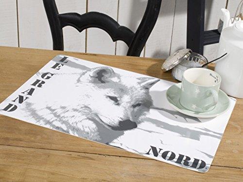 CALITEX Le Grand Nord, PVC, Blanc, 44x28 cm