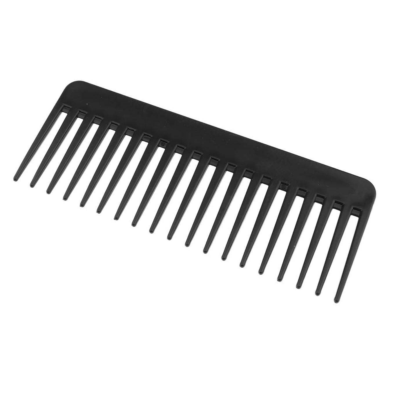 墓昇るコンパクトF Fityle 帯電防止くし プラスチック製 ヘアブラシ 丈夫 3色選べ - ブラック