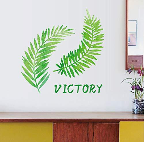zwyluck Nordic Plant Leaves muursticker slaapkamer kast Home Decor zelfklevend Muraux 62 x 63 cm