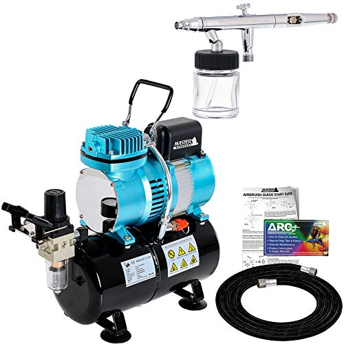 Master S62 Airbrush Kit with Tank Compressor and Hose
