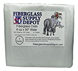 Fiberglass Cloth 6 Ounce by 50 Inches Wide - 3 Yards - 37.5 sq/ft for Boat and Pool Repair