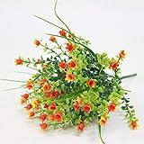 Flores Artificial Simulación Lirio De Los Valles Ramo Plástico Artificial Flores Falsas Boda DIYFiesta Decoración Flor Naranja