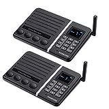 Intercom Wireless for Home Build-in 1500mAh Battery Portable SAMCOM Intercom System 20 Channels Home Communication 1500 Feet Talk Range for Baby Monitor Elder Care House Office Church School,2 Packs