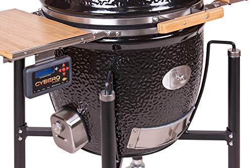 51B9SEcuw2L - Monolith Grill Classic Bbq Guru - Pro-Serie 1.0 Schwarz - Mit Gestell und Seitentischen
