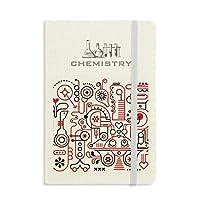 落書き通りの抽象的な赤と白のパターン 化学手帳クラシックジャーナル日記A 5