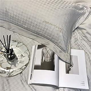 Leilei shop 80 orquídeas Tencel Color sólido Pata de Gallo Juego de Cuatro Piezas,Gray