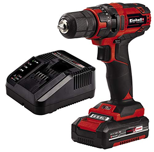Einhell Taladro destornillador inalámbrico TC-CD 18/35 Li Power X-Change (18V, incluye...