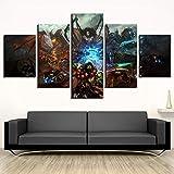 QZGRQ Drucken 5 Stück World of Warcraft Spiel Poster