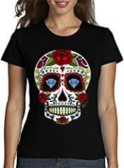 latostadora - Camiseta Calavera Mexicana para Mujer