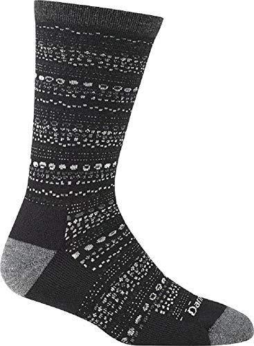 Darn Tough Vermont Damen-Socken mit Kieselsteinen, helles Kissen, Damen, schwarz, Medium